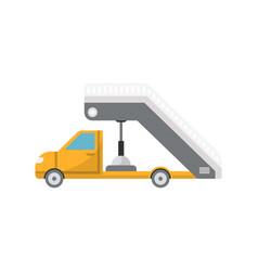 Passenger ladder truck for plane boarding icon vector
