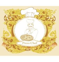 Pizza Menu Template Vintage Card vector image