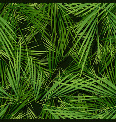 seamless palm trees leaves wallpaper vector image