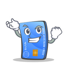Successful credit card character cartoon vector