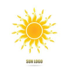 sun logo vector image
