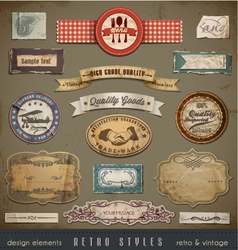 Vintage And Retro Design vector image vector image