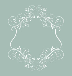 vintage frame with leaves isolated on background vector image