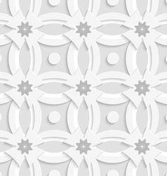 White ornament net gray flowers and white crosses vector