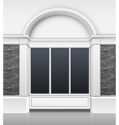 Shop boutique building front with glass showcase vector