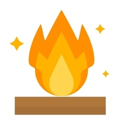 Fire flame isolated vector image