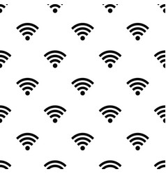 Seamless pattern with wi-fi symbol vector