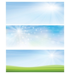 Banner sky grass vector