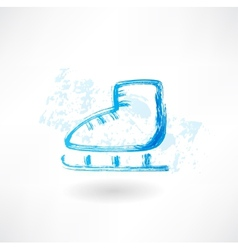 One skate grunge icon vector
