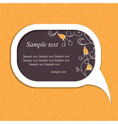 floral speech bubble vector image
