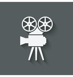 Camera design element vector