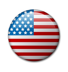 Badge with american flag vector