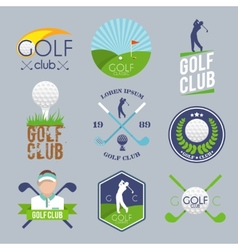 Golf label set vector