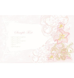 Abstract floral invitation card vector