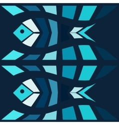 Blue fish mosaic background vector