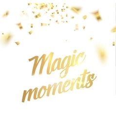 Magic moments card vector image