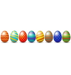 Row of easter eggs vector