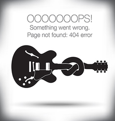 Guitar knot 404 vector