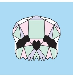Pastel low poly skull vector