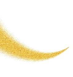 Abstract gold dust glitter star wave vector image