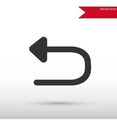 Arrow back undo previous action black icon vector