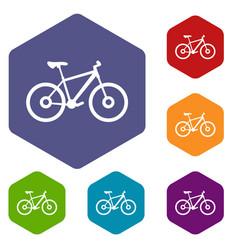 Bike icons set vector