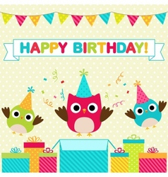Birthday party card vector image