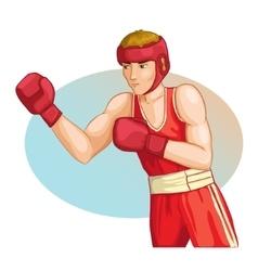 Boxing man image eps10 vector image vector image