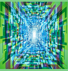 colorful tunnel background vector image vector image