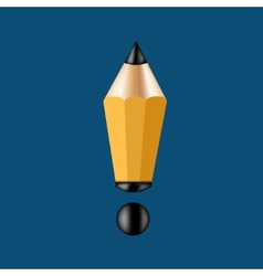 concept pencil and exclamation mark vector image