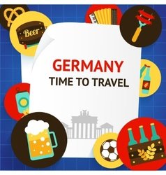Germany background template vector