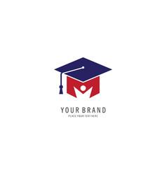 graduation logo vector image