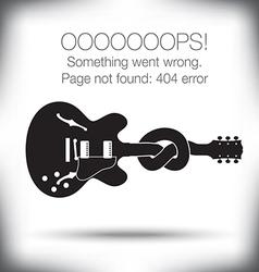 Guitar knot 404 vector