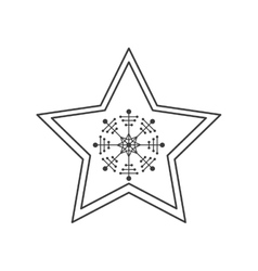 Isolated star of Christmas season design vector image