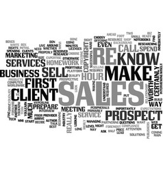 It sales put your best foot forward text vector