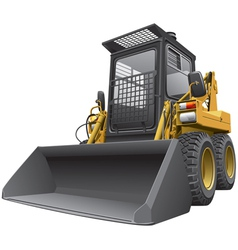 Light brown skid steer loader vector