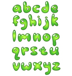 lower case eco bubble alphabet vector image