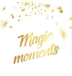 Magic moments card vector