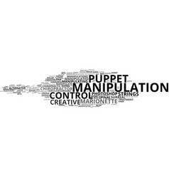manipulation word cloud concept vector image