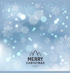 merry christmas with snowflake and lighting vector image vector image