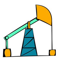 Oil pump icon icon cartoon vector