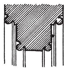 Pier-arch molding base built vintage engraving vector