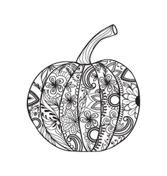 Pumpkin for thanksgiving day halloween vector