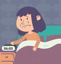 Sad Girl Getting Up vector image vector image