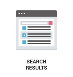 Search results icon concept vector