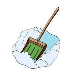 Snow shovel hand drawn vector