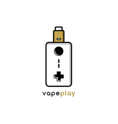 Video game joystick console theme vaporizer vape vector