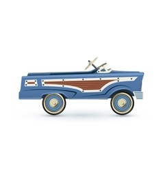 Vintage old blue toy pedal car vector image vector image