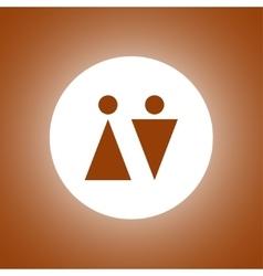 WC sign icon Toilet symbol vector image