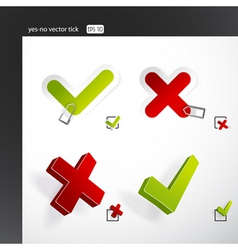 yes no ticks vector image vector image